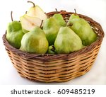 Pears In Basket White...