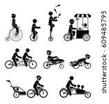 set of pictograms representing... | Shutterstock .eps vector #609485795