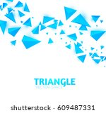 abstract blue triangle... | Shutterstock .eps vector #609487331