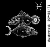 Pisces Zodiacal Symbol....