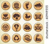 eco. wooden environment icons... | Shutterstock .eps vector #60949555