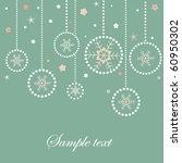 christmas balls retro card with ... | Shutterstock .eps vector #60950302