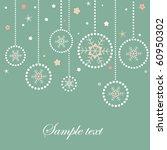 christmas balls retro card with ...   Shutterstock .eps vector #60950302