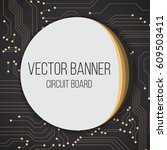 circuit blue black board...   Shutterstock .eps vector #609503411