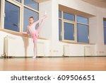 young girl ballet dancer... | Shutterstock . vector #609506651