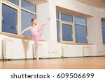 young girl ballet dancer... | Shutterstock . vector #609506699