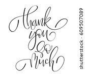 thank you handwritten... | Shutterstock .eps vector #609507089
