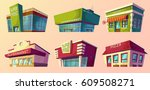 set of vector cartoon... | Shutterstock .eps vector #609508271