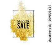 abstract vector stippling gold... | Shutterstock .eps vector #609509684