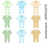 pajamas set. flat design ... | Shutterstock .eps vector #609510275