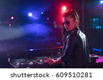 young woman in a night club | Shutterstock . vector #609510281