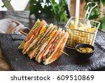 gourmet sandwich   Shutterstock . vector #609510869