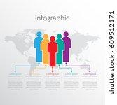 vector infographic template... | Shutterstock .eps vector #609512171