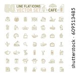 vector graphic set. icons in... | Shutterstock .eps vector #609513485
