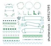 big set of decorative elements...   Shutterstock .eps vector #609517595