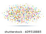 colorful bright rainbow colors... | Shutterstock . vector #609518885