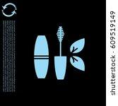 mascara brush icon. vector... | Shutterstock .eps vector #609519149