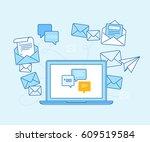 vector illustration in flat... | Shutterstock .eps vector #609519584