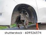 car in repair shop  thailand.   | Shutterstock . vector #609526574