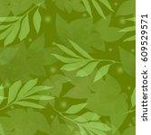 seamless floral patten | Shutterstock . vector #609529571