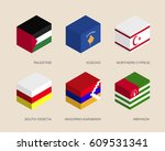 isometric 3d boxes with flags... | Shutterstock .eps vector #609531341