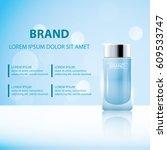 skin toner ads template  glass...   Shutterstock .eps vector #609533747