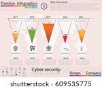 modern clean business circle... | Shutterstock .eps vector #609535775
