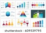 vector arrows infographic ... | Shutterstock .eps vector #609539795