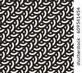 seamless monochrome pattern.... | Shutterstock .eps vector #609541454