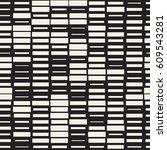 vector seamless black and white ... | Shutterstock .eps vector #609543281