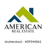 real estate  building ... | Shutterstock .eps vector #609544061