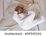 close up of mixed race baby boy ... | Shutterstock . vector #609545141