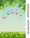 Vector Spring Landscape With...