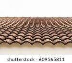 ceramic tiles on the roof | Shutterstock . vector #609565811