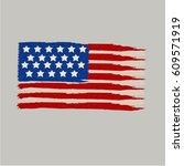 grunge brush stroke watercolor... | Shutterstock .eps vector #609571919