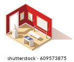 vector isometric low poly... | Shutterstock .eps vector #609573875
