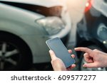mobile phone help calling after ... | Shutterstock . vector #609577277