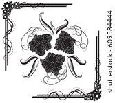 a beautiful bouquet of... | Shutterstock .eps vector #609584444