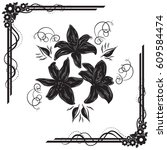 a beautiful bouquet of lilies... | Shutterstock .eps vector #609584474