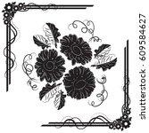 a beautiful bouquet of gerbera... | Shutterstock .eps vector #609584627
