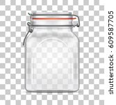 vector empty bale square glass... | Shutterstock .eps vector #609587705