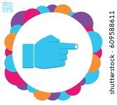 hand indicating the direction.... | Shutterstock .eps vector #609588611