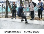 moscow   25 march 2017  young... | Shutterstock . vector #609591029