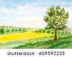 Watercolor Landscape Backgroun...