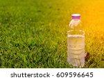 fresh water bottle in the park   | Shutterstock . vector #609596645
