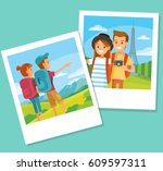 travel photos from vacation | Shutterstock .eps vector #609597311