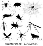 silhouette of insects | Shutterstock .eps vector #60960631