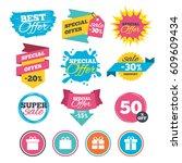 sale banners  online web... | Shutterstock .eps vector #609609434