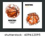 design for basketball. set... | Shutterstock .eps vector #609612095