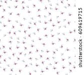 seamless floral pattern | Shutterstock .eps vector #609619715
